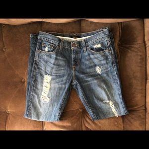 Levi distressed straight leg jeans